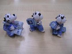 Snoopy Porselijn Blauw per stuk