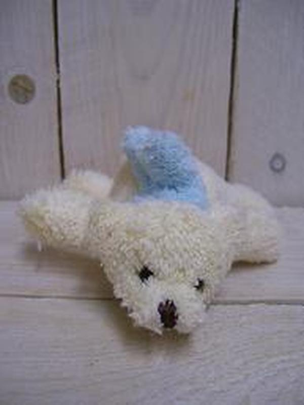 Pluche Ijsbeer Blauwe Sjaal