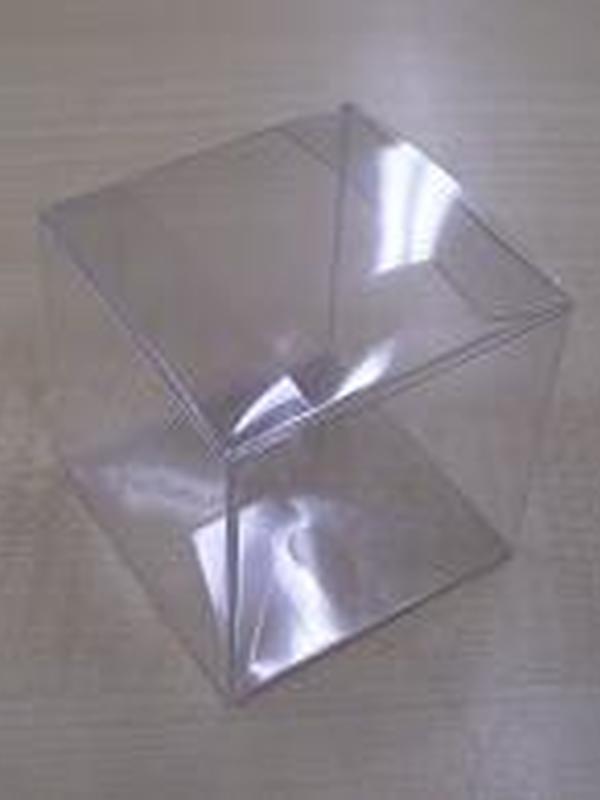 Plastiek Vouw kubus Helder 6x6x6cm